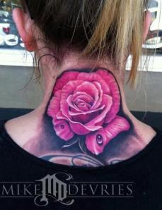 rose tattoo by Mike Devries